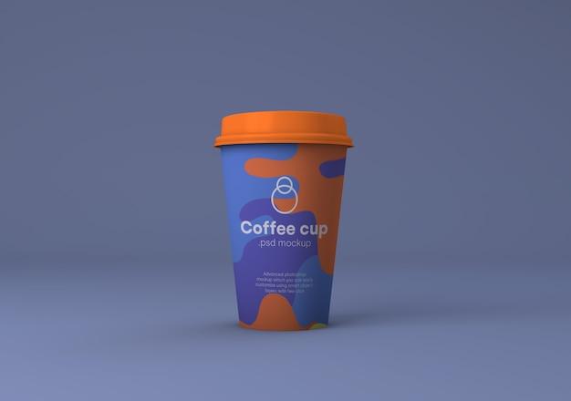 Paper coffee cup branding mockup psd