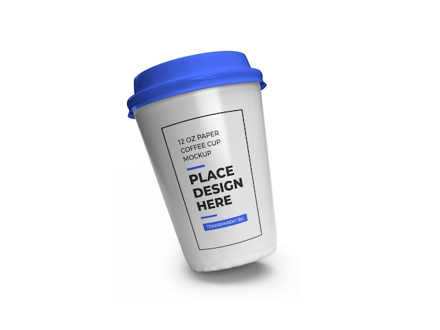 Бумага чашка кофе макет изолированные