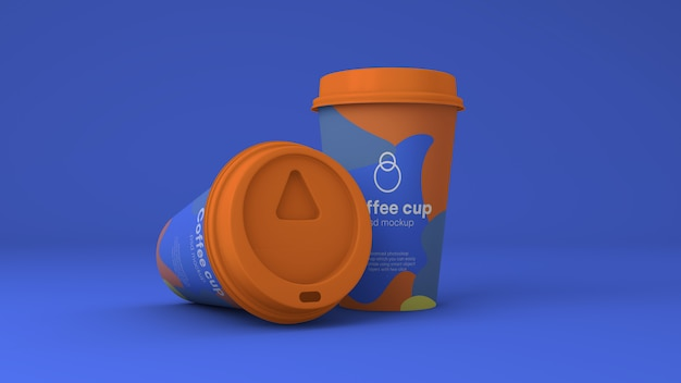 Paper coffee cup mockup psd