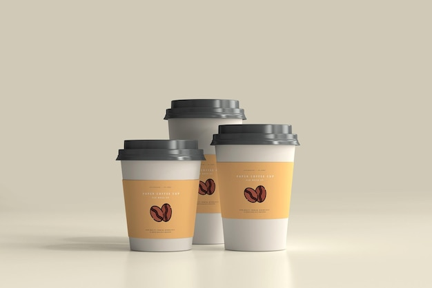 Paper coffee cup mockup scene