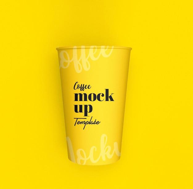 紙のコーヒー カップのモックアップ