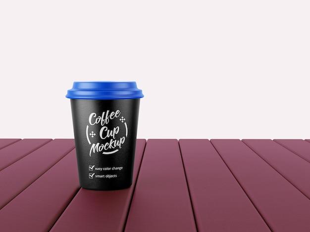 紙のコーヒーカップのモックアップ