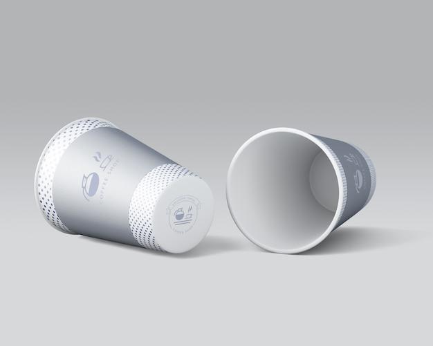Paper coffee mug mockup