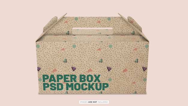 Paper container box psd mockup