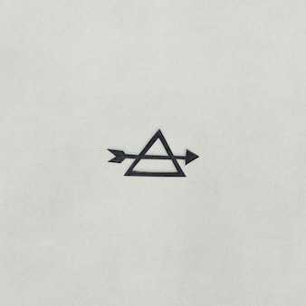 Paper craft design of arrow and triangle