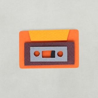 テープカセットアイコンのペーパークラフトデザイン