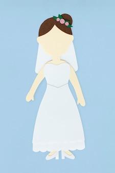Paper craft of human avatar icon