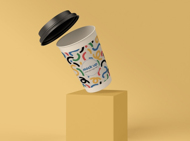 Paper cup on base template