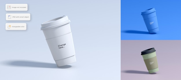 Paper cup of coffee mockup