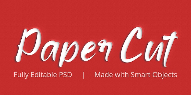Paper cut text style effect