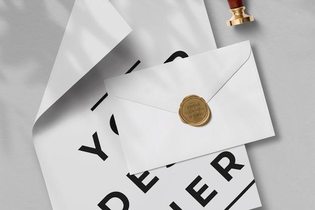 Paper and envelope mockup