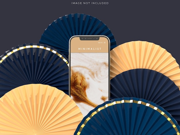 전화 모형과 중국 새해 장식으로 종이 팬 메달