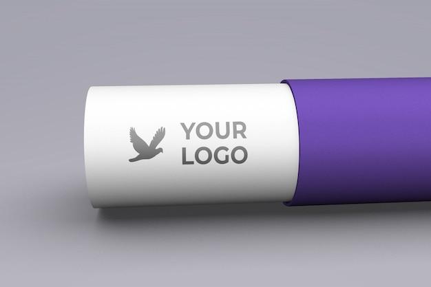 Paper fold logo mockup