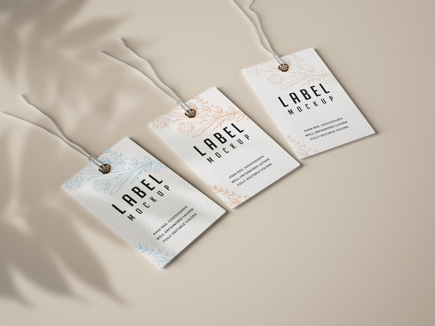 Paper label mockup set