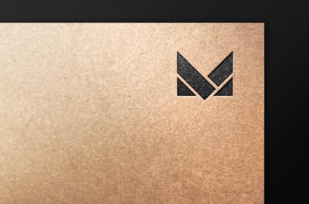 Бумага с логотипом тиснение макет современный