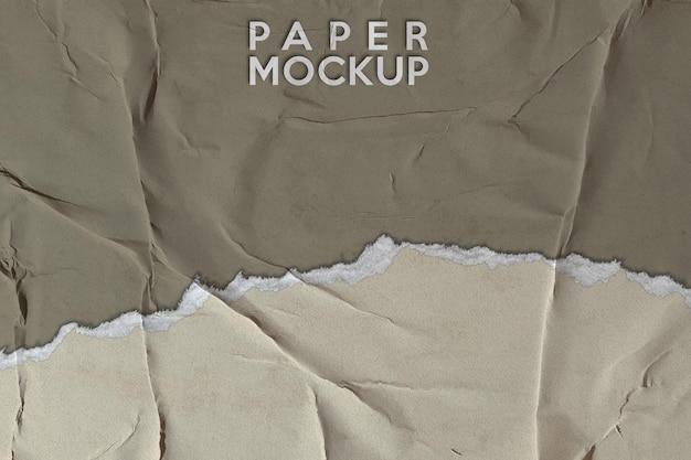 紙のモックアップの背景