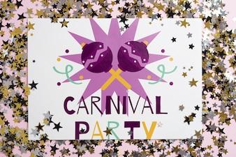 Paper mockup for carnival
