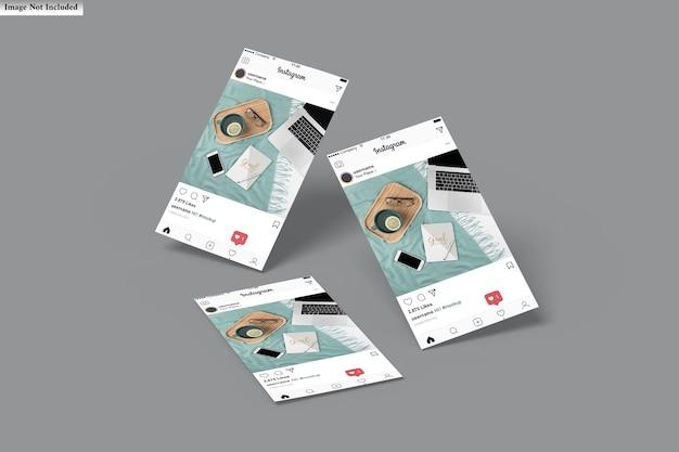 Бумажный макет для публикации в социальных сетях