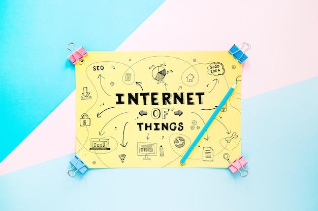 것들 개념의 인터넷으로 종이 이랑