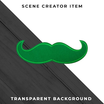 Paper mustache decoration isolated with clipping path.