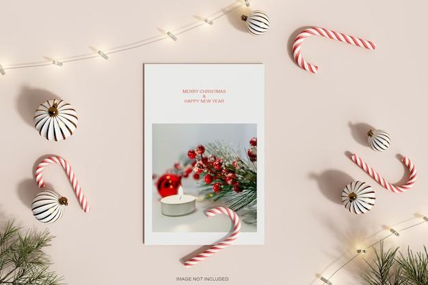 Макет бумажной фоторамки на рождество