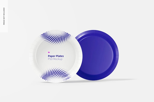 紙皿モックアップ、正面図と背面図