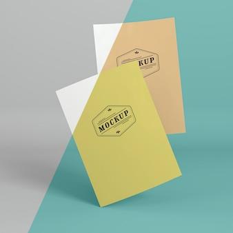 紙ポップコンセプトモックアップ 無料 Psd