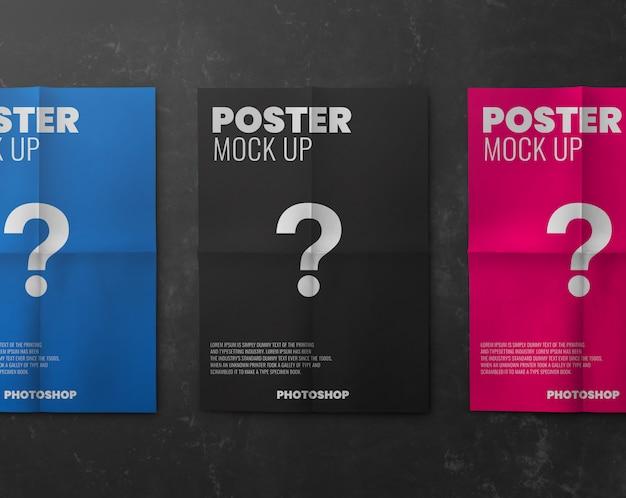 Paper poster advertising print mockup