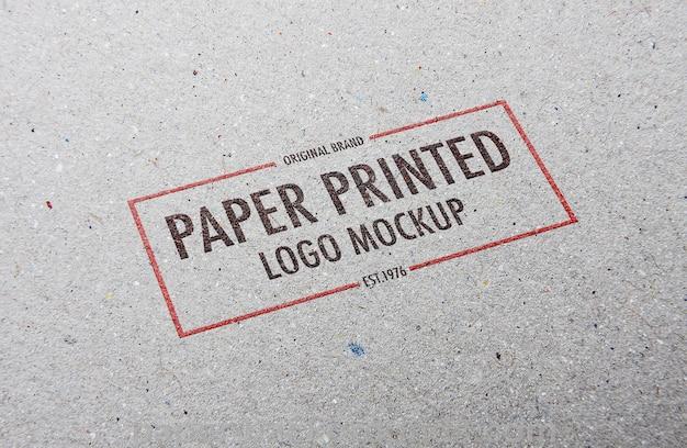 Paper printed logo mockup