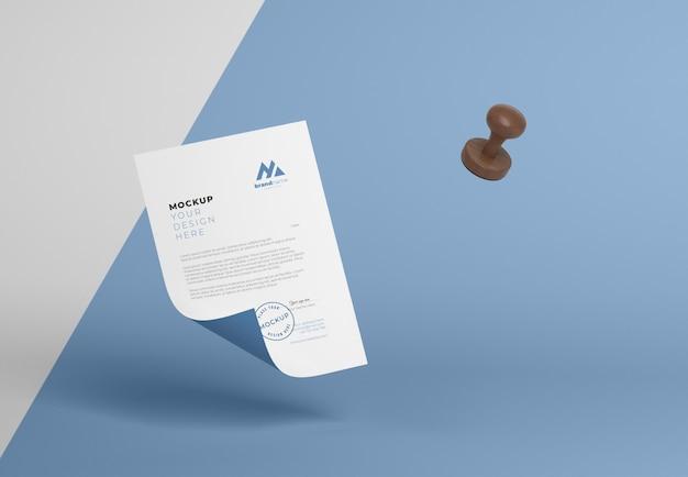 Paper and seal mock-up arrangement