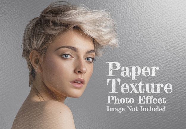 Paper sheet texture photo effect mockup