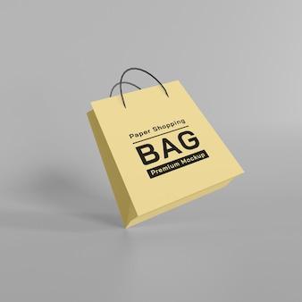 Paper shopping bag mockup design premium psd