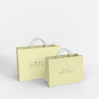 Paper shopping bag mockup design