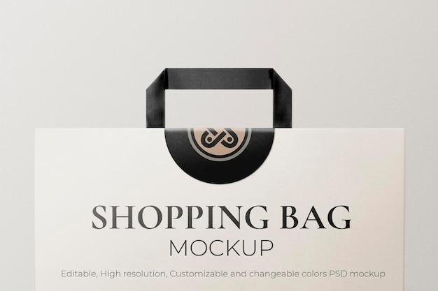 紙の買い物袋のモックアップ編集可能なpsd