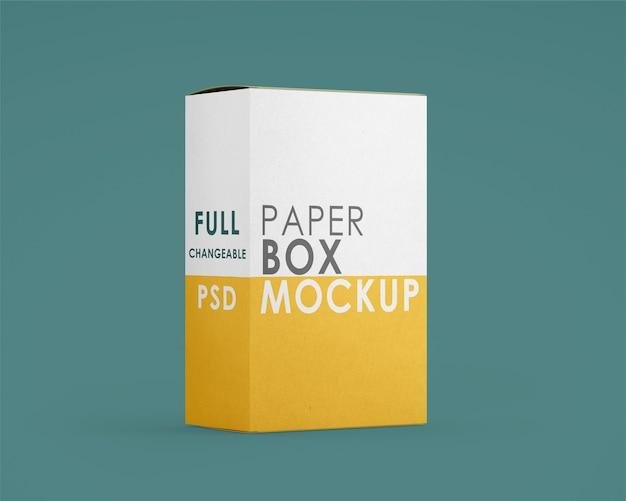 分離された紙の四角い箱のモックアップ