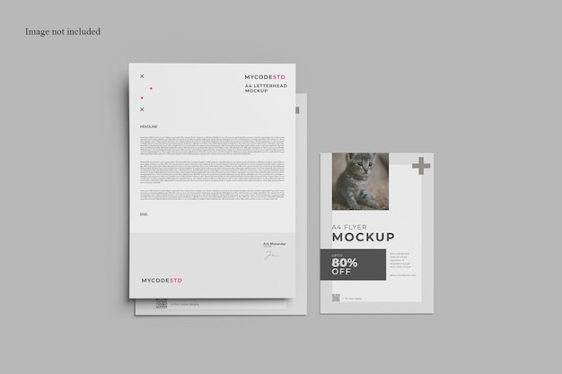 Paper stationery mockup for your corporate branding