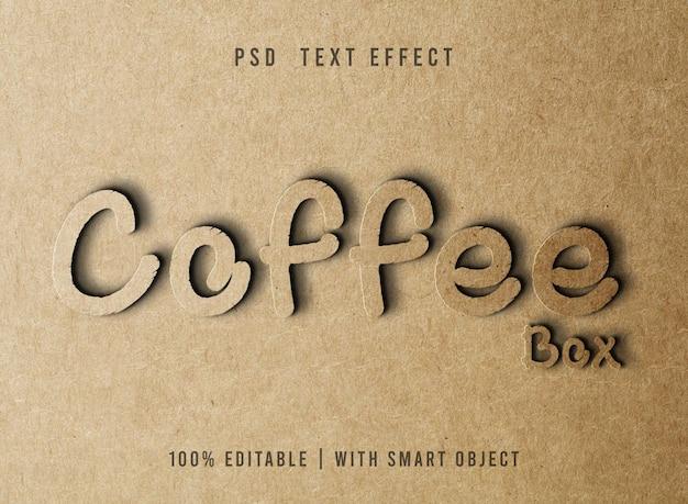 Редактируемый текстовый эффект в стиле бумаги