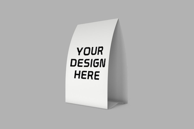 Paper table expositor mockup design