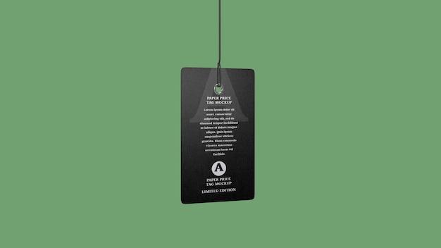 Paper tag mockup