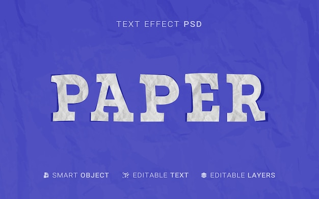 Paper text effect