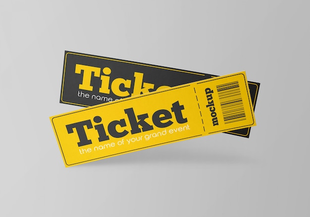 Paper tickets mockup