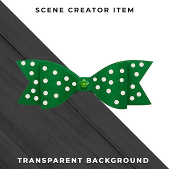 Paper tie decoration isolated with clipping path.