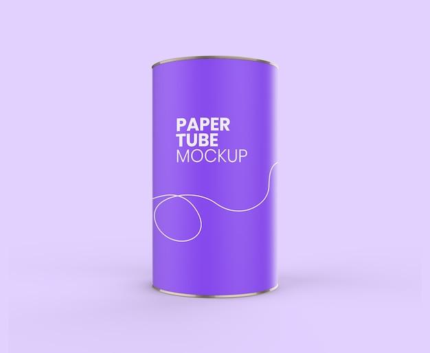 Paper tube realistic mockup
