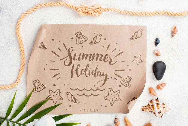 Paper with summer message