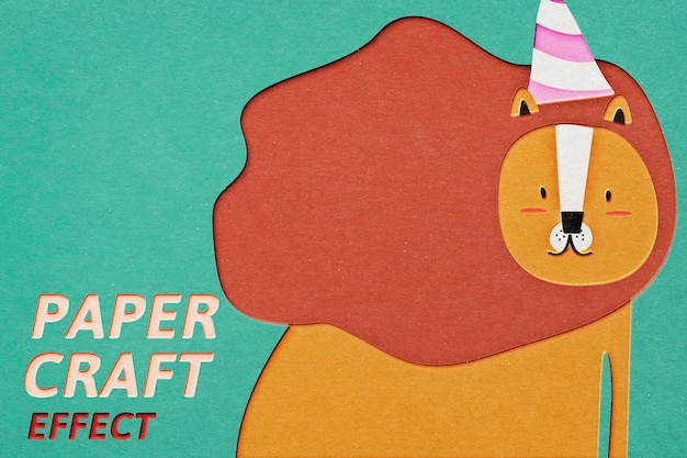 Papercraft psd effect photoshop add-on paper cut out style