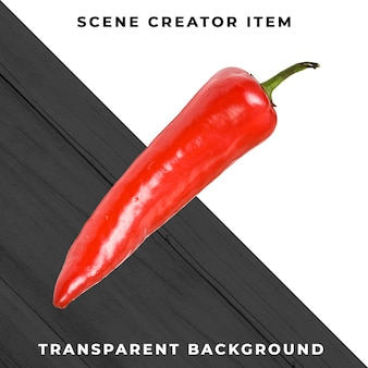 Paprika isolated with clipping path.