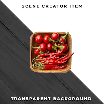 Paprika tranpsarent isolated with clipping path.