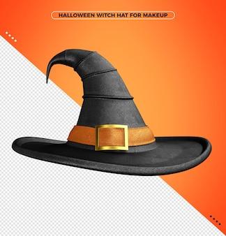 할로윈 마녀를 위한 오렌지 프린트가 있는 파라다이스 의상 3d 모자