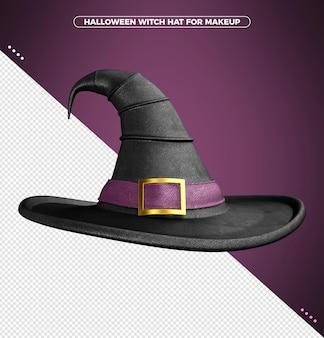 할로윈 마녀를 위한 보라색 프린트가 있는 파라다이스 의상 3d 모자