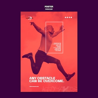 Parkour ad poster template